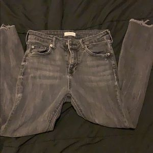 ZARA Mid rise Washed Skinny Jeans